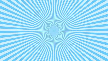 Blue background superhero. Super hero cartoon gradient texture. Sun rays burst. Radiate sun beam, burst effect retro. Sunbeam light flash boom. Template sunlight starburst poster Vector illustration Illustration