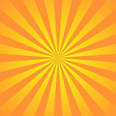 Orange yellow background superhero. Super hero cartoon gradient texture. Sun rays burst. Radiate sun beam, burst effect retro. Sunbeam light flash boom. Sunlight starburst poster Vector illustration