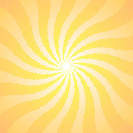 Orange yellow background superhero. Super hero cartoon gradient texture. Sun rays burst. Radiate sun beam, burst effect retro. Sunbeam light flash boom. Sunlight starburst poster Vector illustration