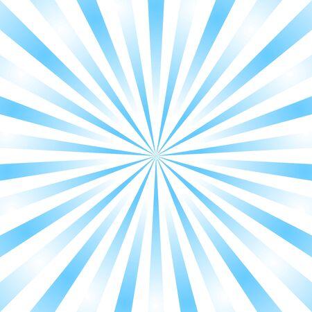 Blue background superhero. Super hero cartoon gradient texture. Sun rays burst. Radiate sun beam, burst effect retro. Sunbeam light flash boom. Template sunlight starburst poster Vector illustration Ilustração