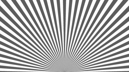 Sun rays background. Gray radiate sun beam, burst effect. Sunbeam light flash boom. Template poster sale. Sunlight star, sunrise glow burst. Solar radiance glare, retro design Vector illustration Ilustração