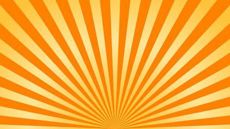 Super-héros fond jaune orange. Texture de dégradé de dessin animé de super héros. Les rayons du soleil éclatent. Rayonner le rayon de soleil, effet d'éclatement rétro. Boom de flash de lumière de rayon de soleil. Affiche de starburst de la lumière du soleil Illustration vectorielle
