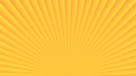 Sun rays background. Yellow orange radiate sun beam, burst effect. Sunbeam light flash boom. Template poster sale. Sunlight star, sunrise glow burst. Solar radiance, retro design Vector illustration
