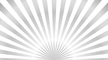 Sun rays background. Gray radiate sun beam burst effect. Sunbeam light flash boom. Template starburst poster. Sunlight star, sunrise glow burst. Solar radiance glare, retro design Vector illustration