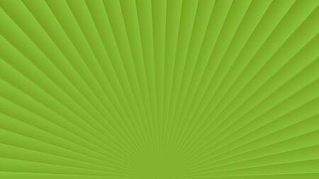 Sun rays background. Green radiate sun beam burst effect. Sunbeam light flash boom. Template starburst poster. Sunlight star, sunrise glow burst. Solar radiance glare retro design Vector illustration