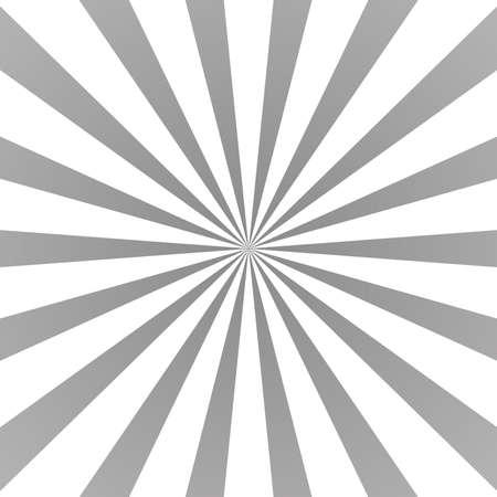 Sun rays background. Gray radiate sun beam burst effect. Sunbeam light flash boom. Template starburst poster. Sunlight star, sunrise glow burst. Solar radiance glare, retro design. Vector illustration