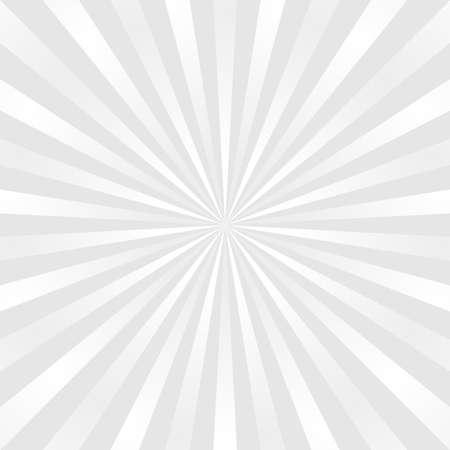 Gray ray background. Vintage abstract texture. Retro starburst, sun beam. Halftone color. Light burst. Bright shine sunburst. Empty blank, scrapbook surface. Clean nature energy. Vector illustration Illustration