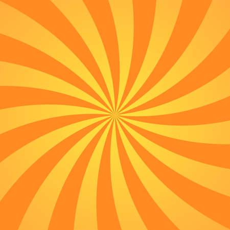 Orange yellow background superhero. Super hero cartoon gradient texture. Sun rays burst. Radiate sun beam, burst effect retro. Sunbeam light flash boom. Sunlight starburst poster. Vector illustration