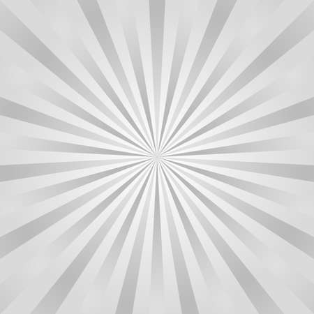 Sun rays background. Gray radiate sun beam, burst effect. Sunbeam light flash boom. Template poster sale. Sunlight star, sunrise glow burst. Solar radiance glare, retro design. Vector illustration Illustration