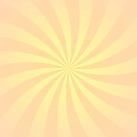 Orange yellow ray background. Vintage abstract texture. Retro starburst, sun beam. Halftone color. Light burst. Bright shine sunburst. Empty scrapbook surface. Clean nature energy. Vector illustration