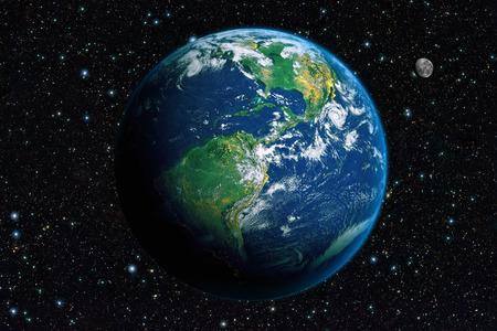 planeta verde: La Tierra desde el espacio. América Foto de archivo