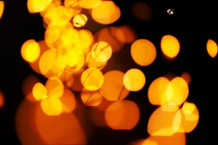 Golden Lights Background. Christmas Lights Concept.