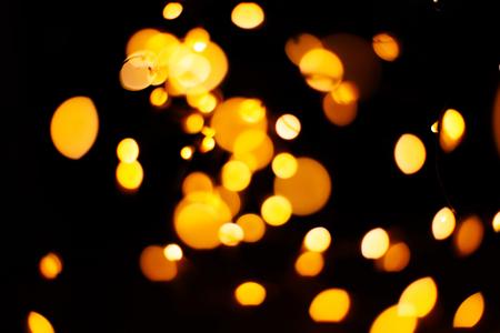 circular reflections of Christmas lights 写真素材