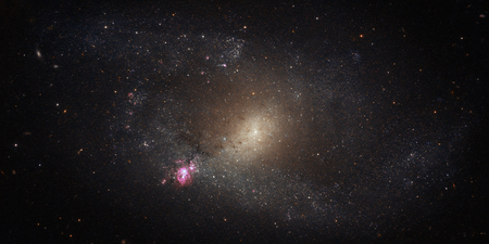 Stars field with galaxies and constellations. Space. Stock Photo