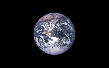 Earth on a black background isolated. Planet Earth element for designers