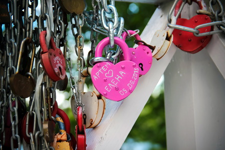 rust red: Wedding beautiful padlock traditionalLove Padlock Love and happiness