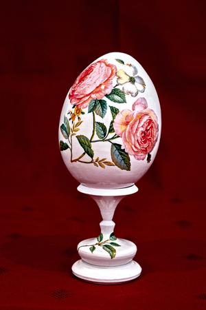 Easter egg on handmade clay Stock Photo