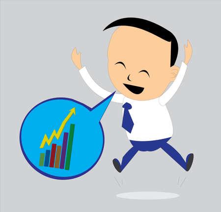 knows: the business man feel very glad when he knows his business is growth