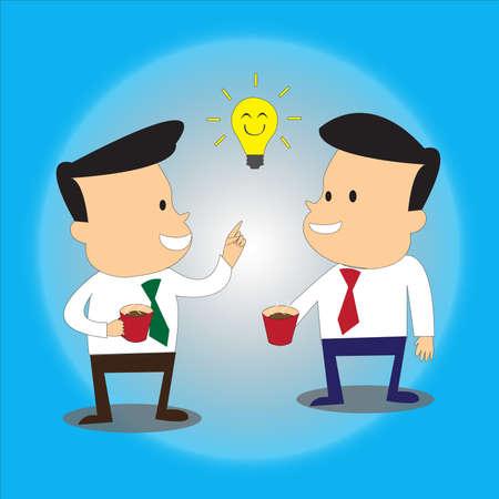 coffee break business idea - business concept Vector