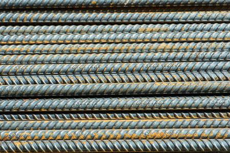 reinforcing bar: background from steel rod Stock Photo