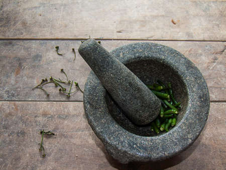 flail: Flail with green pepper