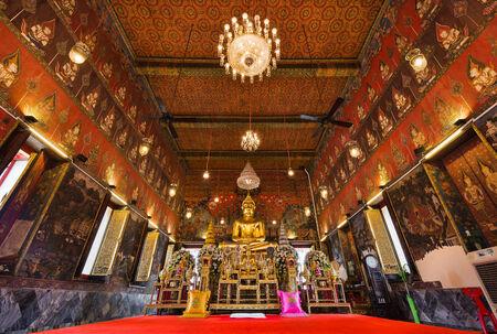 Buddha statue at Wat Saket, Travel Landmark of Bangkok THAILAND
