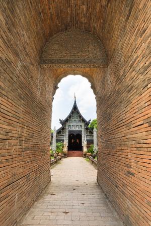 Old wooden church of Wat Lok Molee Chiangmai Thailand. photo