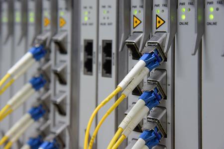 equipment: Fiber Optical connector interface for Cards Equipment DWDM telecommunications.(select focus)
