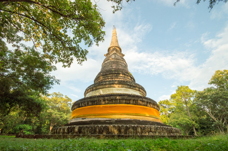 Wat Umong is a 700-year-old Buddhist temple in Chiang Mai, Thailand. Editoriali