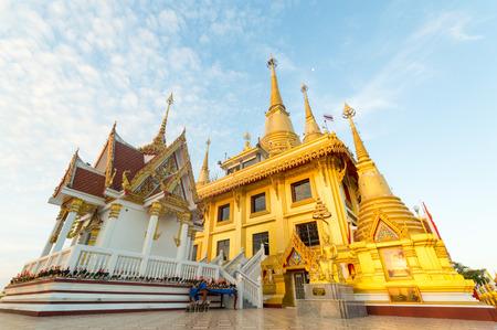 Wat Khiri Wong, The beautiful big golden temple in Nakhonsawan, Thailand.