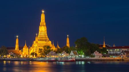 Wat Arun Temple on twilight at bangkok Thailand. Wat Arun is a Buddhist temple in Bangkok Yai district of Bangkok, Landmark of thailand Editoriali