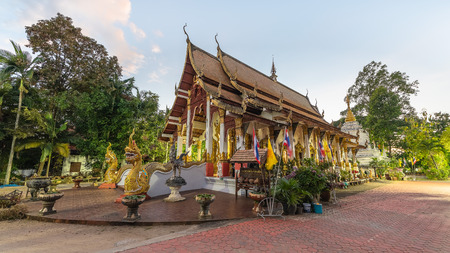 Wat Kan Thom is the most beautiful temple in Wiang Kum Kam (Ancient Lost City in Chiang Mai, Thailand) Archivio Fotografico