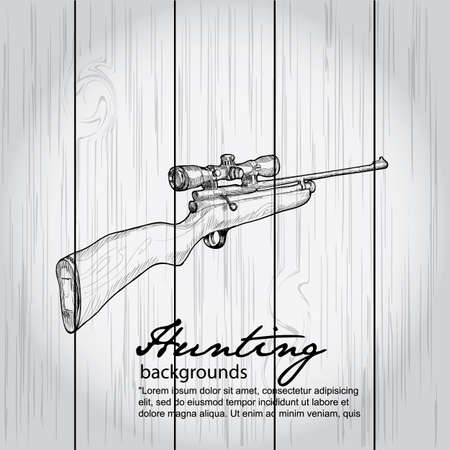 treasure hunt: hunting background - vector illustration