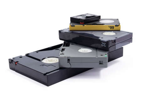 Different formats of professional video tapes