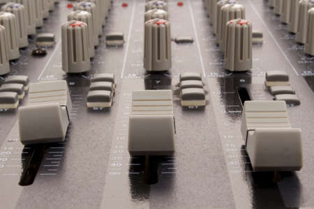 fader: Audio sliders of a mixing console