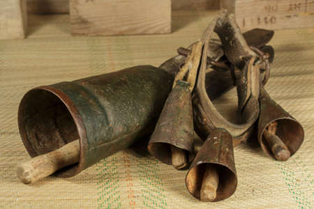 animal husbandry: Two old cowbells of different types