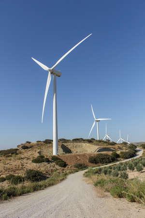 wind farm: Driveway to wind farm