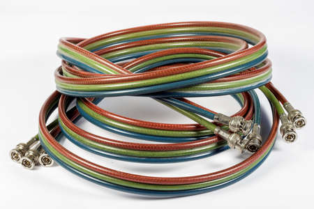 video cables: Cables used in an analog component video broadcast system