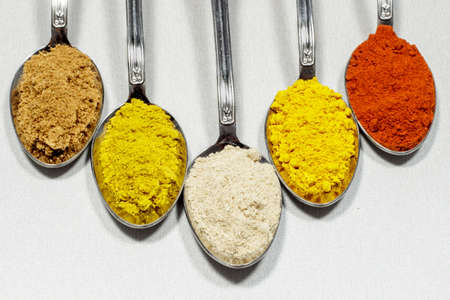 condiments: Different types of condiments powder