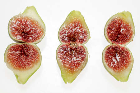 pulp: Red pulp and seed of figs cut in half