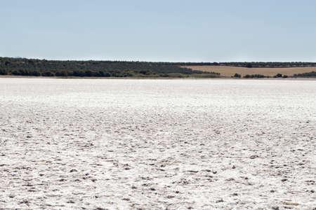 sere: Fully dried saline lagoon Stock Photo