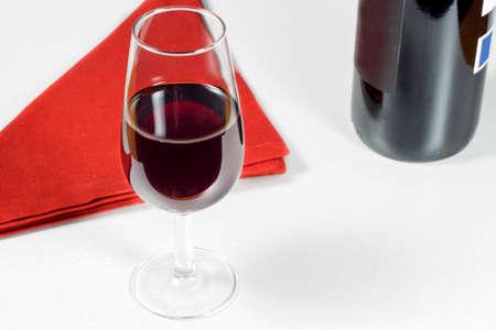 rioja: Glass of wine Rioja Gran Reserva of year 2004 Stock Photo