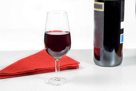 rioja: Bottle of Rioja Grand Reserve (year 2004) beside a wineglass