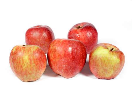 manzana roja: Several red apples on white