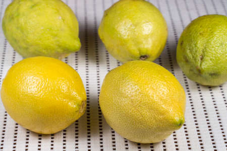 citric: Close-up of several lemons Stock Photo