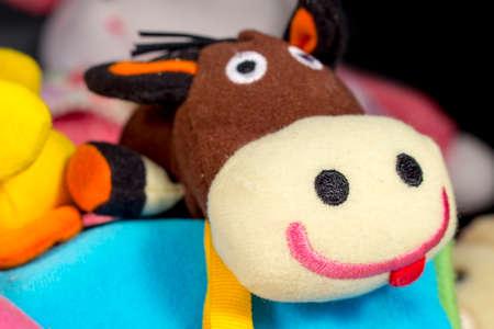 donkey: Funny teddy donkey. Baby toys.