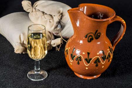 whine: Fino sherry wine. Glass of Manzanilla