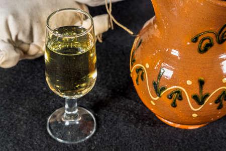 sherry: Glass of Manzanilla, fino sherry wine Stock Photo