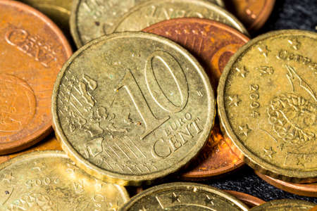 cent: Ten cent euro coin Stock Photo