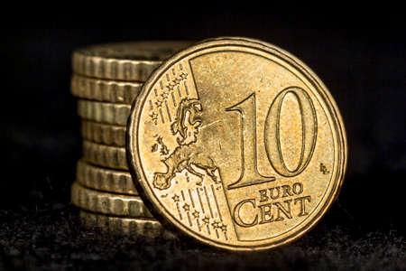 euro coins: Ten cent euro coins